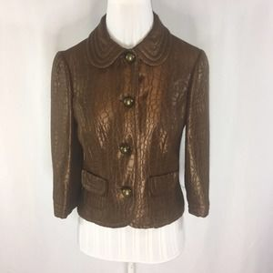Trina Turk Bronze Jacket Size 8